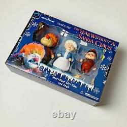 2002 The Year Without A Santa Claus Figure Set Heat Miser Mrs. Claus Jingle
