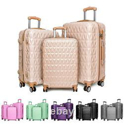 20/24/28 Small Large Suitcase Hard Shell Travel Trolley Hand Luggage