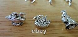 37gram Set of All 12 Days of Christmas Large Heavy Sterling Silver Charms