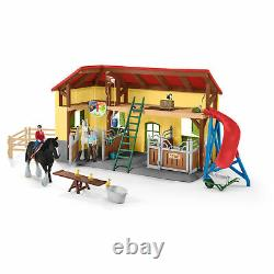42485 Schleich Horse Stable Farm World Plastic Play Set with 7 Animals Age 3+