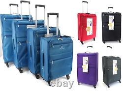 4 Wheel Spinner Set Of 4 Single Lightweight Cabin Luggage Travel Suitcases Bag