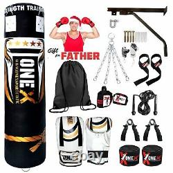 5ft. Punch Bag Boxing Filled Heavy Duty Martial Arts Father Christmas Gift Set