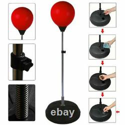 Boxing Punch Bag Ball Set With Gloves Free Standing Play Toy Adults Xmas Gift