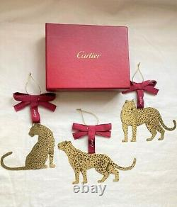 CARTIER christmas panther ornament set for tray tank santos watch love ring gold