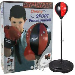 Children Kids Free Standing Boxing Punch Bag Ball Gloves Set Play Toy Xmas Gift