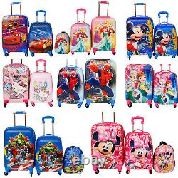 Children Kids Holiday Travel Hard Shell Suitcase Luggage Trolley Bag Backpack