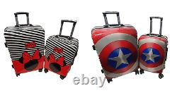 Children Kids Holiday Travel Hard Shell Suitcase Luggage Trolley Bags Adults UK