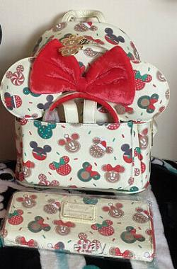 Christmas Cookie Loungefly Backpack, Ears And Purse Set BNWT