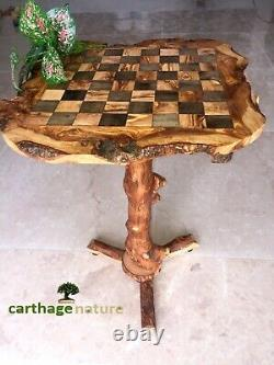 Christmas gift, Olive wood chess set board with stand 23, boyfriend gift, US