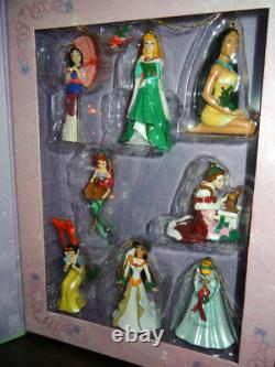 DISNEY CLASSIC 2007 PRINCESS 8 PIECE CHRISTMAS ORNAMENT SET with COLLECTABLE BOX