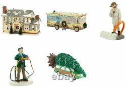Dept 56 Christmas Vacation Set/5 GRISWOLD HOUSE, TREE, DAD, COUSIN EDDIE, RV