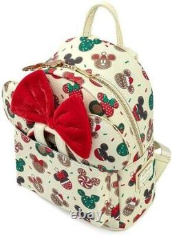 Disney Christmas Mickey and Minnie Cookie Headband and Double Backpack Gift Set