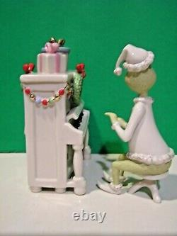 LENOX GRINCH'S CHRISTMAS MELODY 2 piece Piano sculpture set NEW in BOX with COA