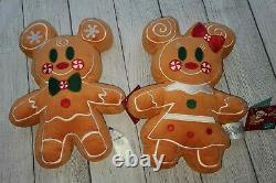NEW 2020 Disney Parks MICKEY MINNIE Gingerbread Scented Plush SET of 2 Christmas
