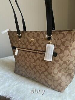 NWT Coach Bag Tote and Wallet set In Black and Khaki