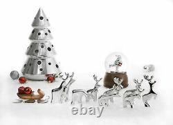 Nambe Holiday Collection Miniature Reindeers Set of 10 Figures Made with