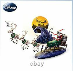Nightmare Before Christmas 20th Anniversary Village Sleigh Set Limited Edition
