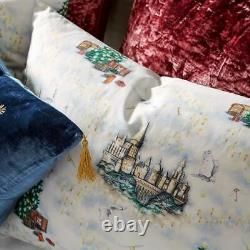 Pottery Barn HARRY POTTER HOGWARTS Christmas Percale Sheet Set QUEEN