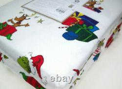 Pottery Barn Teen Multi Color The Grinch Max Flannel Cotton XLT Twin Sheet Set
