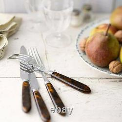 Sabre Tortoise Stainless Steel 20-pc Service For 4 Flatware Set Brand New F/sh
