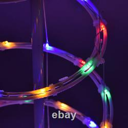 Set of 3 LED Christmas Spiral Light Kit 6Ft 4Ft 3Ft Cone Tree Decoration Party