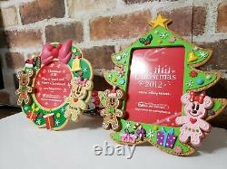 TOKYO Disney Christmas GingerBread photo stand Picture frame Set 2 Ginger NEW