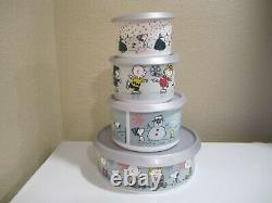 Tupperware Limited Edition Holiday Canister Set Charlie Brown Peanuts, Snoopy