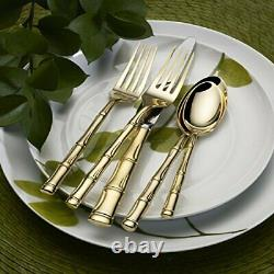 Wallace Bamboo Gold 20-Piece Stainless Steel Flatware Set, Service for 4
